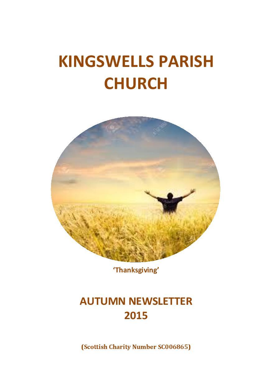 Autumn Newsletter 2015