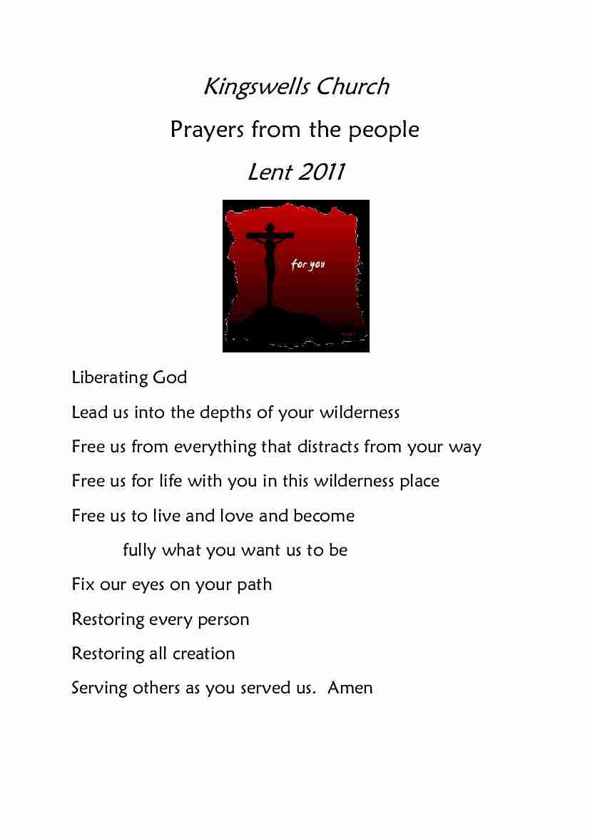 Lent Prayer Diary 2011
