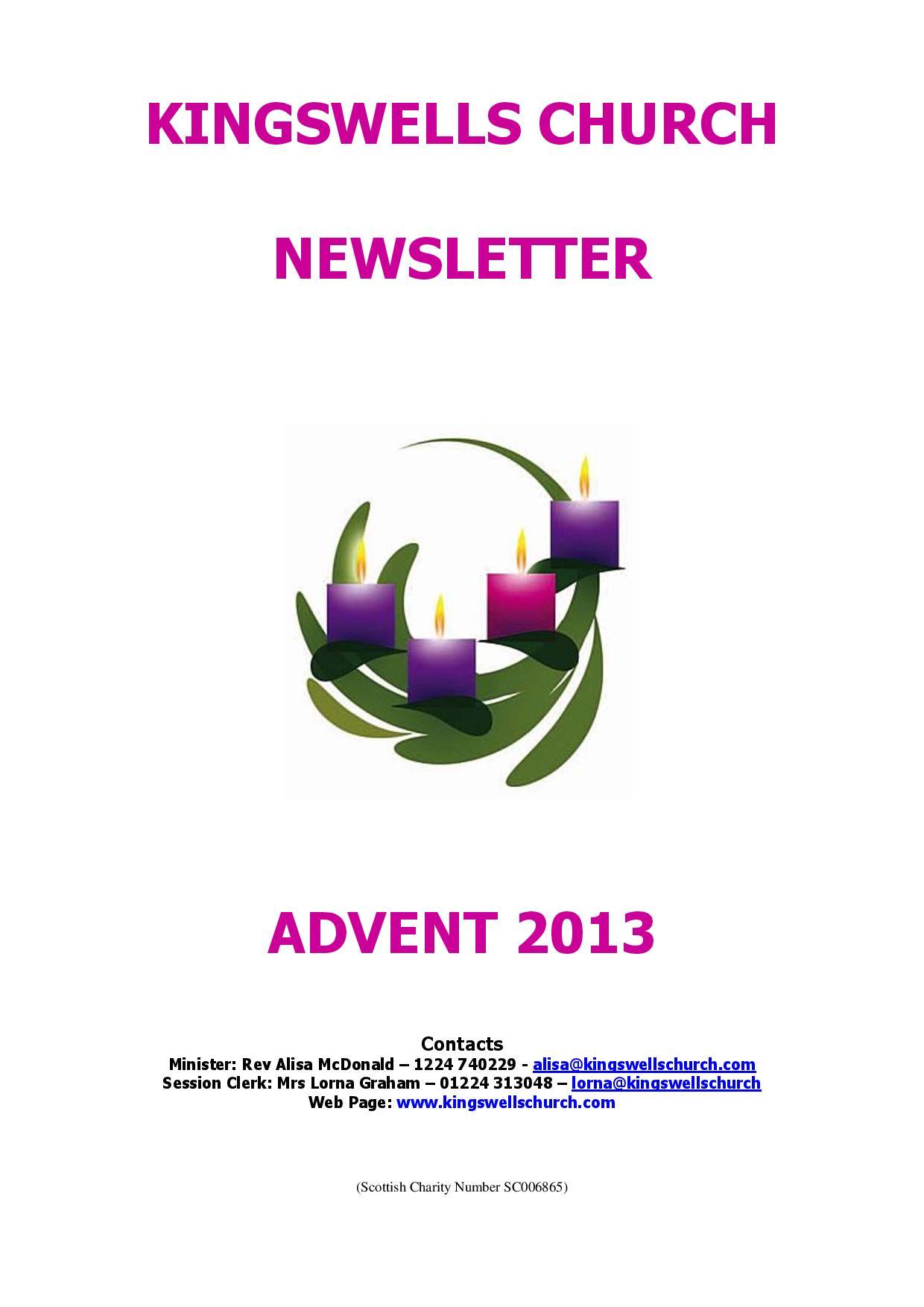 Advent Newsletter 2013