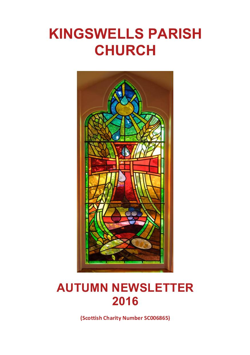 Autumn Newsletter 2016