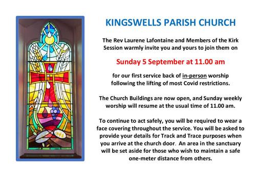 Invite to 5 september worship